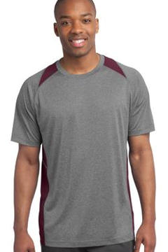 Custom embroidered Sport-Tek ® - Heather Colorblock Contender Tee. ST361