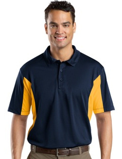 Custom Embroidered Sport-Tek ® - Side Blocked Micropique Sport-Wick ® Polo. ST655