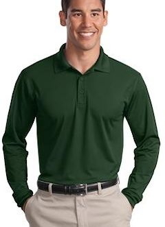 Custom embroidered Sport-Tek ® Long Sleeve Micropique Sport-Wick ® Polo. ST657