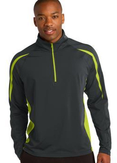 custom embroidered Sport-Tek ® Sport-Wick ® Stretch 1/2-Zip Colorblock Pullover. ST851