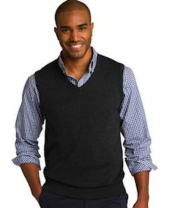 Custom embroidered Port Authority ® Sweater Vest. SW286