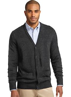 Custom embroidered Port Authority ® Value V-Neck Cardigan with Pockets. SW302