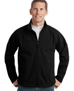 embroidered Port Authority® - Tall Textured Soft Shell Jacket. TLJ705
