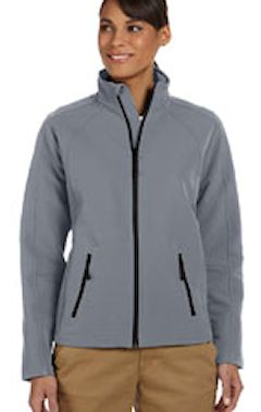 d945w Custom embroidered D945 Devon & Jones Men's Bonded Tech-Shell® Duplex Jacket