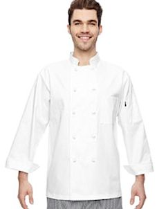 Custom Embroidered DC109 Dickies 7 oz. Cloth Knot Button Chef Coat