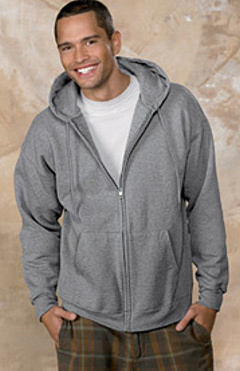 custom embroidered F280 Hanes 10 oz. Ultimate Cotton® 90/10 Full-Zip Hood