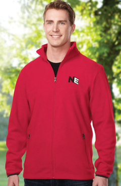 custom embroidered Tri-Mountain F7608 8.4 oz Micro Fleece Jacket.