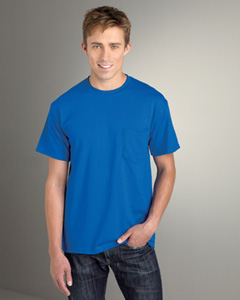 custom embroidered G830 Gildan DryBlend� 5.6 oz., 50/50 Pocket T-Shirt