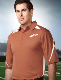 custom embroidered Tri Mountain Men's 5.3 oz. 100% polyester birdseye mesh polo. K119 Lightning.