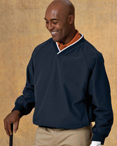 M700 Harriton Microfiber Wind Shirt embroidered.